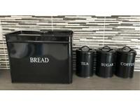 Kitchen BREAD TEA COFFEE & SUGAR containers BARGAIN £10
