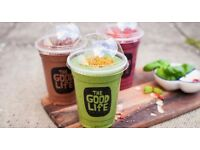 Production Chef/Smoothie Maker & Kitchen Assistant/Porter in North Acton - Good Life Eatery CPU