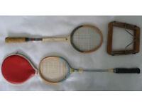 2 vintage squash rackets