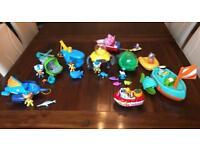 Octonaut bundke plus bath toys