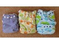 Bambooty Easynights cloth reusable nappies x3