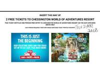Two Tickets for Chessington world of adventure