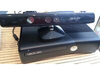 Xbox 360 s console with kinect controller plus games