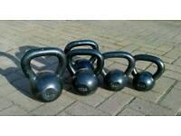 Cast iron kettlebells x5