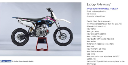 YCF 125SEL MX BIGY | Motorcycles | Gumtree Australia Logan