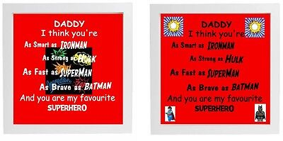 Vinyl Sticker DIY Father's Day Gift Fits 20 x 20xm frame Superheros Daddy Gift](Father's Day Diy)