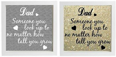 Vinyl Sticker DIY Fathers Day Gift Fits 20x20cm frame Dad Someone you look up to (Fathers Day Diy)