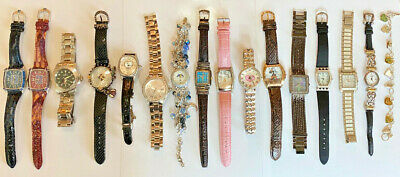 Lot of 15 Watches Various Brands & Styles including J. Ripka, B. Bixby, Invicta