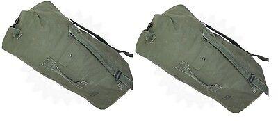 Lot of 2 USGI Military Duffle Sea Bags Duffel Backpack Travel Army Navy Pack VGC