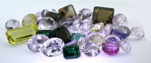 261 Carats Assorted Faceted Mixed Gemstone Shapes Sizes CLOSEOUT BELOW COST!