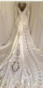 Vintage princess gown/catherdal train and heart shaped open back