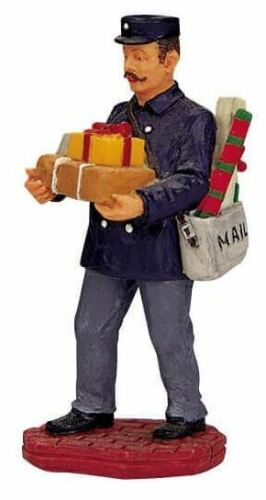 Lemax Christmas Village Town Mailman 12480 Postman Delivery Mustache Retired