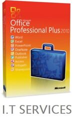 GENUINE MICROSOFT OFFICE SUITE 2010 PRO PLUS NEW ON ORIGINAL MICROSOFT DISCS WITH LIFETIME KEYS INCL