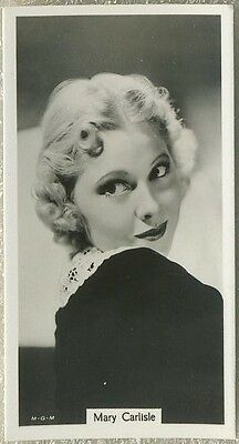 Mary Carlisle 1939 RJ Lea Famous Film Stars Tobacco Card #6
