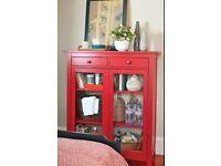 Ikea HEMNES Red Linen Cupboard/Cabinet