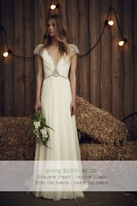 Jenny Packham Sheba Inspired Glitter Cap Sleeve Wedding Dress