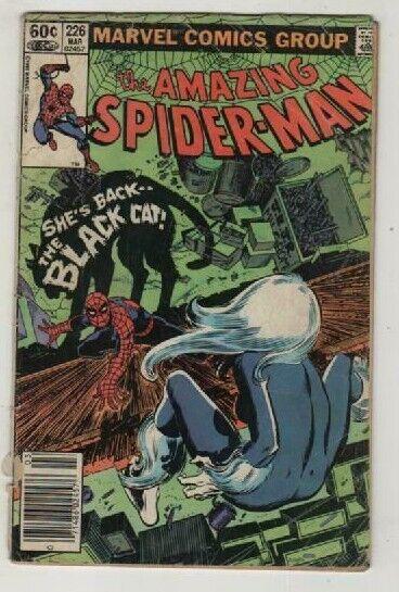 AMAZING SPIDER-MAN 226 FT BLACK CAT HUGE BRONZE SALE GOOD 2.0 - $4.00