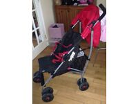 Mamas and Papas red/black 'Swirl' pushchair