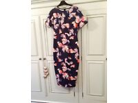 ASOS maternity special occasion floral dress size 8/10