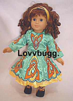 "Green Irish Dance Dress 6 pc Set for American Girl 18"" Doll Clothes TRUE US SELR for sale  Shipping to India"