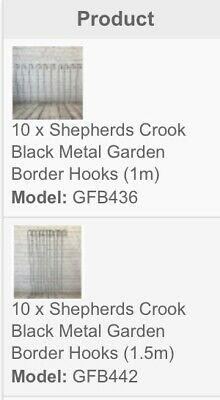 20 x Shepherd's Crook Hook for Bird Feeders & Garden Candle Lanterns Etc