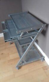 mobile angular computer desk