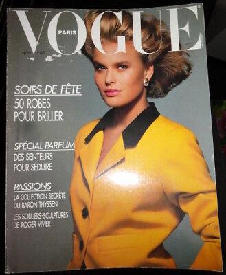 Vtg Vogue Paris 1987 Guy Bourdin Diane von Furstenberg Japan Emmanuelle Seigner