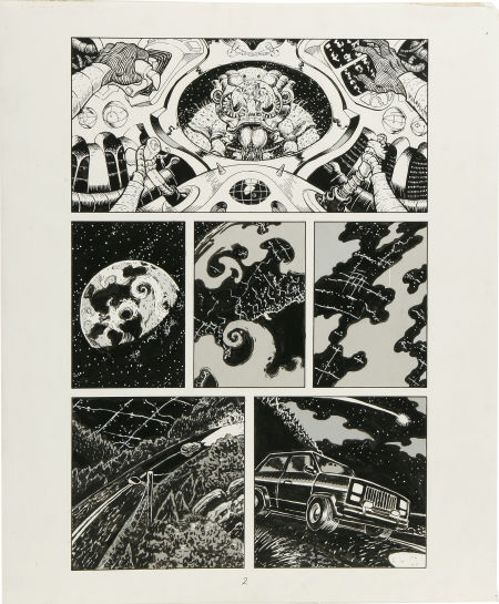 Original  Art  By Mike Dubisch  Flesh Crawlers P2 and P14
