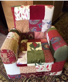 Adorable children's patchwork handmade chair