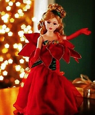 """""""Poinsettia"""" vintage porcelain doll 16"""" by Heritage Signature Collection"""