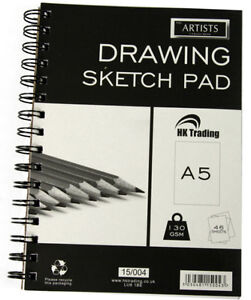 A5 Artist Art Drawing Sketch Sketching Pencil Charcoal Pad Book White Paper