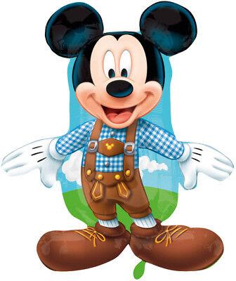 Mickey Mouse Lederhose ca. 80cm Luftballons Folienballon Geburtstag Figur deko ()