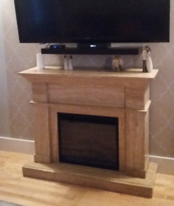Marble Everest Electric Fireplace