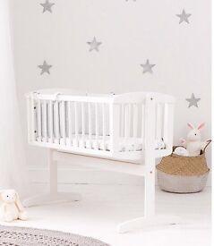 White Baby Swinging Crib