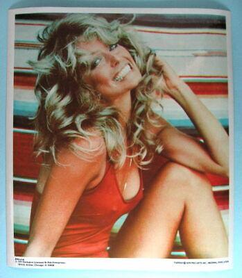 FARRAH FAWCETT Original 1977 Poster Put-On Sticker near MINT