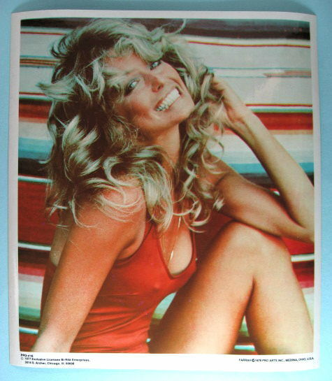FARRAH FAWCETT Original 1977 Poster Put-On Sticker near MINT