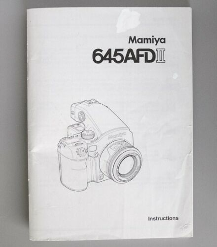 Mamiya 645AFDII Instruction Manual