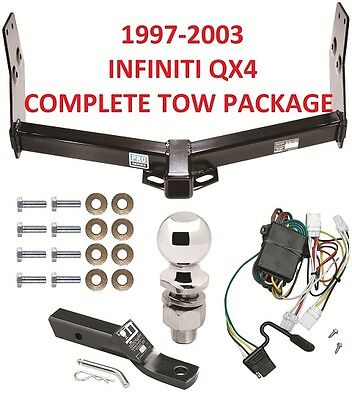 COMPLETE TRAILER RECEIVER TOW HITCH PACKAGE ~ NO DRILL ~ FAST SHIPPING ~ CLASS 3