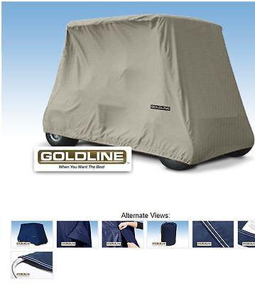 Goldline Premium Xtra Long 4 Person Passenger Golf Car Cart Storage Cover Khaki