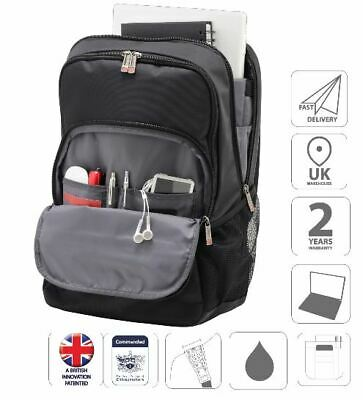 "15.6"" Laptop Backpack Rucksack Bag Black is0105"