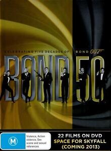 Bond 50 James Bond 007 Complete Collection DVD Box Set 22 Discs films