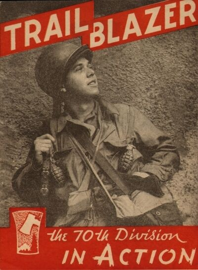 Lot of 5 Postcards from the Cover of Trailblazers – The 70th Division in Action