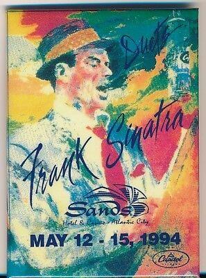 FRANK SINATRA Original Vintage 1994 SANDS HOTEL ATLANTIC CITY Duets Guest PASS