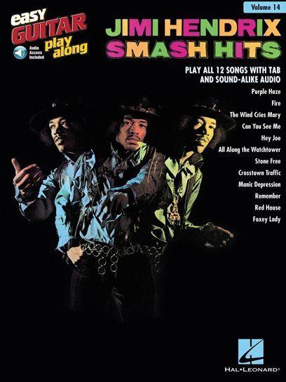 Easy Guitar Play-Along Jimi Hendrix SMASH HITS Learn to Purple Haze MUSIC BOOK