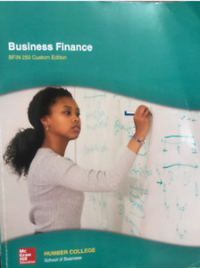 Business finance Humber College edition Textbook