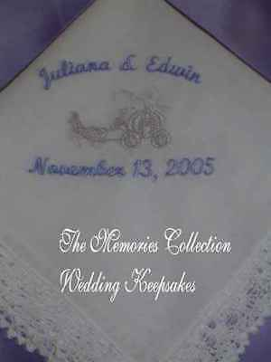 BRIDE CINDERELLA Handkerchief Wedding favor GIFT hankie (Cinderella Gifts)