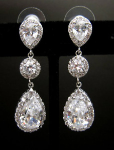 Earrings; tear drop; wedding; bridal jewellery