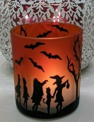 Yankee Candle~~SET of (6)~Halloween Orange Votive/ Tea light Holders~NIB~~6 Rare