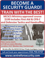 MINISTRY SECURITY GUARD COURSE