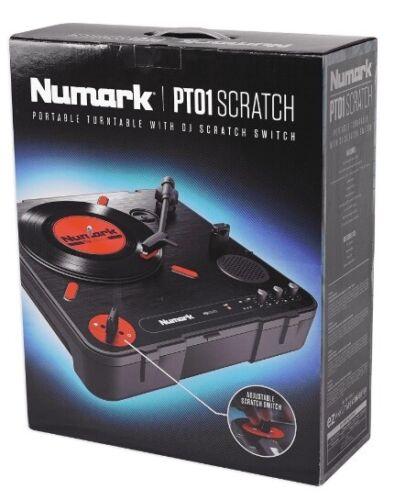 NEW Numark PT01 Scratch Portable DJ Record Turntable w/Scratch Slide Switch